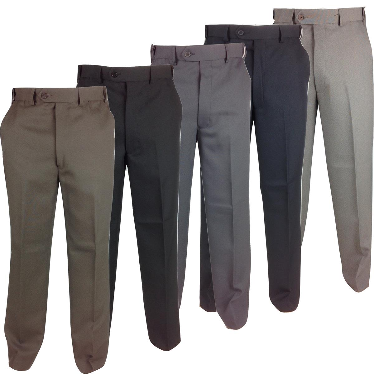 Mens Self Expanding Waist Trousers Comfort Fit W 32 56