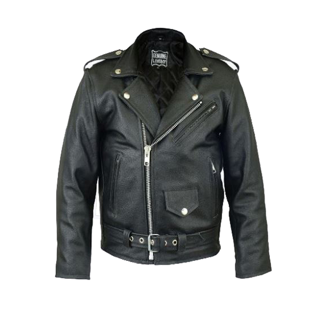 Childrens Black Leather Biker Jacket - Cairoamani.com