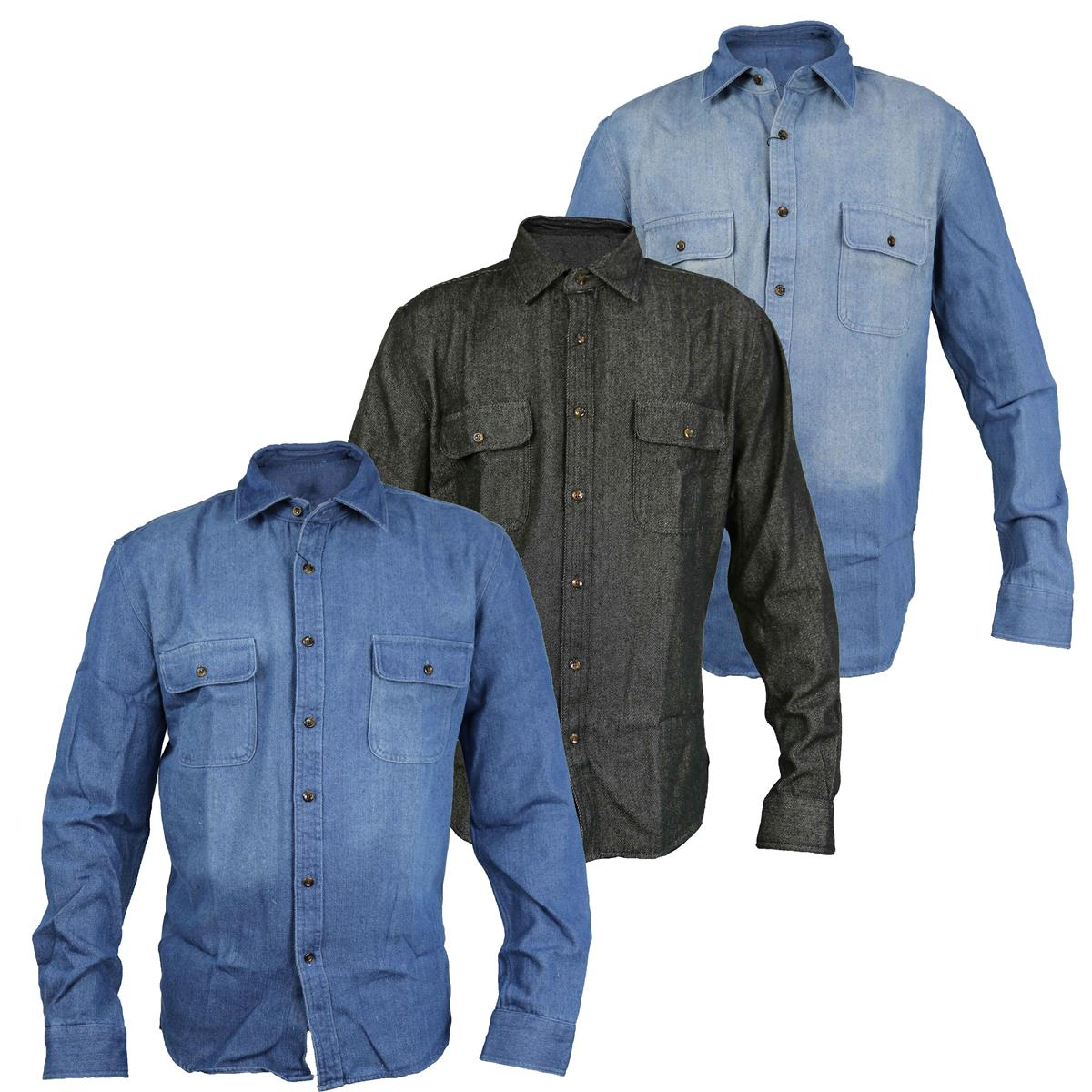 c160ae94db Click to enlarge. HomeT-Shirts and Tops Mens Classic Long Sleeved Denim ...